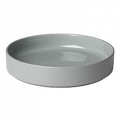 Blomus Hluboký talíř PILAR 20 cm, štěrkově šedý