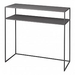 Blomus Konzolový odkladací stolček s poličkou FERA sivý