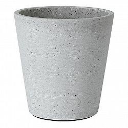 Blomus Kvetináč Coluna svetlosivý Ø 14 cm