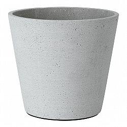 Blomus Kvetináč Coluna svetlosivý Ø 18 cm