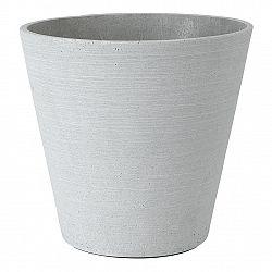 Blomus Kvetináč Coluna svetlosivý Ø 26 cm