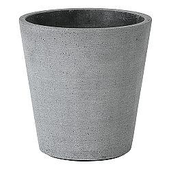 Blomus Kvetináč Coluna tmavosivý Ø 14 cm