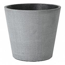 Blomus Kvetináč Coluna tmavosivý Ø 18 cm