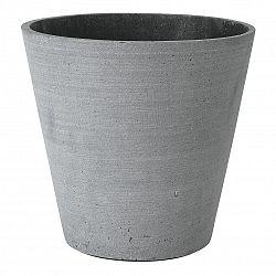 Blomus Kvetináč Coluna tmavosivý Ø 26 cm