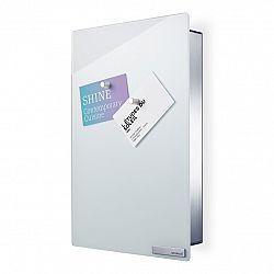Blomus Skrinka na kľúče s magnetickými dvierkami 30 x 20 cm VELIO biela