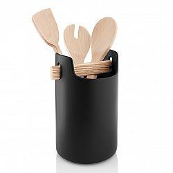Eva Solo Multifunkčný box s drevenou rukoväťou čierny