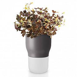 Eva Solo Samozavlažovací keramický kvetináč sivý Ø 9 cm
