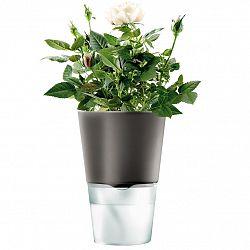 Eva Solo Samozavlažovací kvetináč tmavosivý Ø 11 cm