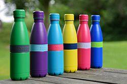 Fľaška TWEE+ Boddels fialová/tyrkysová 500 ml
