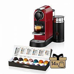 Kávovar na kapsule KRUPS Nespresso Citiz & Milk červený