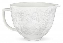 Keramická misa KitchenAid 5KSMCB 4,83 l kvetinová biela