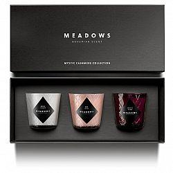 Meadows Darčeková kolekcia 3 vonných sviečok mini Mystic Cashmere
