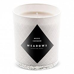 Meadows Vonná sviečka Mystic Cashmere medium biela