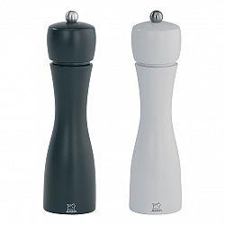 Peugeot Súprava mlynčekov na korenie a soľ - čierno/biely TAHITI, bukové drevo 20 cm