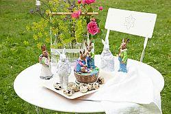 Porcelánový králik s košom Rabbit Collection Rosenthal 14 cm