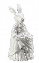 Porcelánový králik s vajíčkami Rabbit Collection Rosenthal biely 13 cm