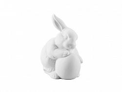 Porcelánový králik s vajíčkom Rabbit Collection Rosenthal biely 10 cm