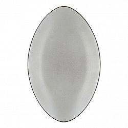 REVOL Tanier/podnos oválny 35 x 22,3 cm farba bieleho korenia Equinoxe
