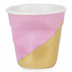 REVOL Téglik na espresso 8 cl Twist Pink Up Froissés