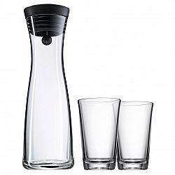 WMF Súprava karafa na vodu čierna Basic 1,0 l + 2 poháre