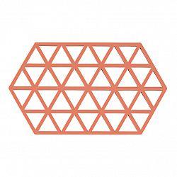 ZONE Podložka pod horúce nádoby peach 24 x 14 cm TRIANGLES