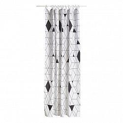 ZONE Sprchový záves 180 x 200 cm black HARLEQUIN