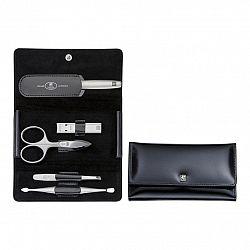 ZWILLING Manikúra 5-dielna TWINOX® Spazzolato čierna s klieštikmi